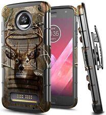 For Motorola Moto Z4 / Z4 Play Holster Case Belt Clip Kickstand Phone Cover
