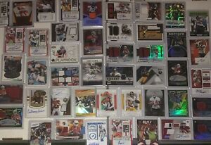 NFL HOT PACK (15 card lot) Guaranteed Auto/Relic/Patch + 10 Rookies Guaranteed