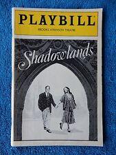 Shadowlands - Brooks Atkinson Playbill - Opening Night - November 11th, 1990