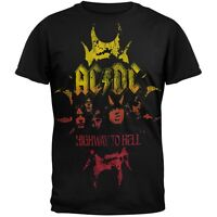 New Official AC/DC -  Highway To Hell Crackle Horn Logo T-Shirt