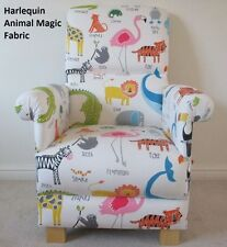 Harlequin Scion Animal Magic Fabric Adult Chair Nursery Tigers Lions Flamingo