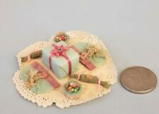 Miniature Artisan Dollhouse Vintage paper party goods set handcrafted