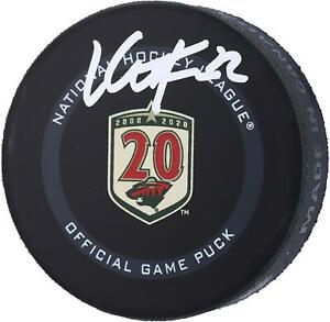 Kevin Fiala Minnesota Wild Signed 20th Anniversary Season Official Game Puck