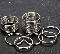 Wholesale Silver Tone Key Rings Chains Split Ring Hoop Metal Loop Accessory 25mm