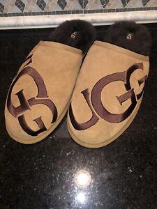 Men's UGG Scuff Logo- Chestnut- size 13- #1101324
