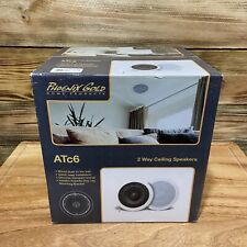 Phoenix Gold Home Products ATc6 White 2 Way Ceiling Speakers New Sealed Box