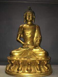 A SUPERB  GILT BRONZE TIBETAN BUDDHA