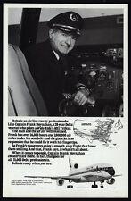 1978 DELTA Airlines Pilot - Captain Frank Moynahan Flies L-1011 Jet - VINTAGE AD