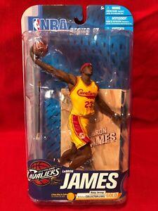 Lebron James NBA Mcfarlane Figure Series 17 Yellow Jersey Cavaliers Sealed
