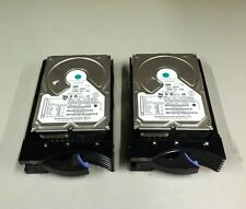 "QTY2 Lot IBM 9.10GB 3.5"" 80 Pin SCSI Hard Drive Type DGHS ECE31870 w/ Caddy"