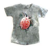 The Mountain Women's Tri Blend Sea Turtle Climb T-Shirt Tee M & L Made in USA.