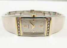Seiko SYL788 Two-Tone Stainless 1F20-0AD8 w/ Gemstones Sample Watch NON-WORKING