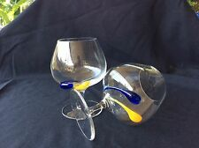 Hand Blown Large Brandy Snifters