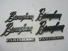 71-72 Pontiac Catalina Parisienne Brougham Roof Script Nameplates USED 9864159