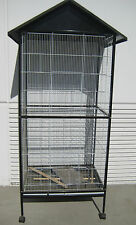 New In/Outdoor Metal Roof Flight Aviaries Canary Parakeet Cockatiel Cage 357