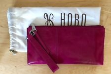 NWT Women's Hobo International Leather Wristlet Clutch Purse, Vida, Fuchsia