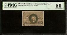 5 Cent Fractional Currency United States Note Small Paper Money Fr 1233 Pmg 50