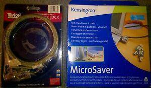 2 X LAPTOP / NOTEBOOK STEEL WIRE SECURITY LOCKS - NEW IN PACKAGING