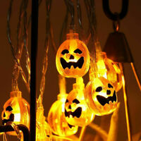 20LED 3M Pumpkin String Lights Halloween Decoration Light Warm White_Waterproof