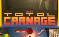 Total Carnage Arcade Marquee Midway Williams Translight Header Sign Backlit