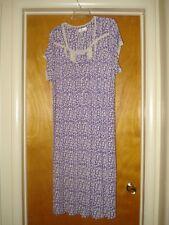 Women's Size XL Eileen West 100% Modal Waltz Length Nightgown Purple Print NICE!