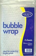 Bubble Wrap Pack Sheets Packing Supplies - All size Ideal for Fragile Goods
