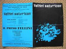 FELLINI SATYRICON ITALIAN PRESSBOOK 1969 BROCHURE FILM MOVIE ORIGINALE