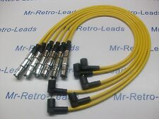 YELLOW 8MM PERFORMANCE IGNITION LEADS FOR VW PASSAT 2.8 VR6 OBD2 QUALITY LEADS