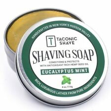 Taconic Shave Eucalyptus Mint Handcrafted Shaving Soap - Made in USA