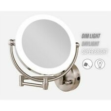 Rucci Wall Mount Led Lighted Makeup Mirror, Ac Adaptor, 10x/1x Mag. M999