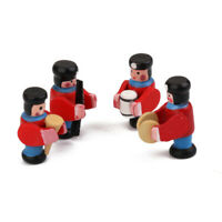 1:12 Set of 4pc Wood Soldiers Dollhouse Miniature Shop Nursery Toy Accessory