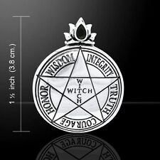 Witch Pentagram Pentacle .925 Sterling Silver Pendant by Peter Stone