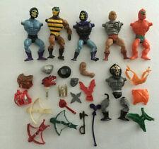 MOTU He-Man Lot of Parts Weapons Shields Figures