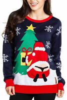 TIPSY ELVES Women's Winter Whale Tail Ugly Christmas Sweater Medium