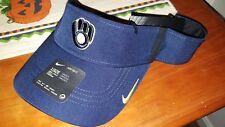 NIKE Brewers AeroBill Vapor Visor One Size Hat Cap MLB Drifit