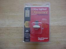 Pass & seymour 600 watt 3-way Lighted slider dimmer switch TradeMaster Ivory