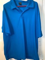 Men's Nike Golf Dri Fit Dry LIGHT BLUE Short Sleeve Polo Shirt Size XXL 2XL