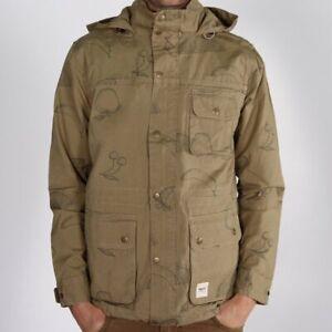 WEMOTO Hal Jacket Khaki Print Übergangsjacke Jacke Herren Braun