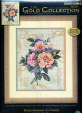 NEW Dimensions Gold Collection  ROSE GARDEN CUTTINGS  Cross Stitch Kit  - U.S.A.