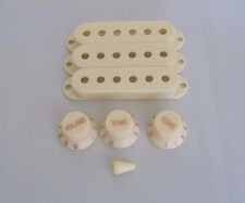 Aged White Strat Knobs,ST Pickup Covers and 5 Way Switch Tip Fits Fender
