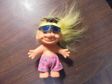 "RUSS "" Sun glasses with Yellow Hair""  Troll Doll  5"""