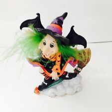 Estate 1998 Spooky Hollow Witch on a broom Small figurine