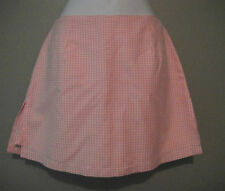NWT Love-Life Women Big Girls Pink & White Gingham Check Skirt Skort  Size 2