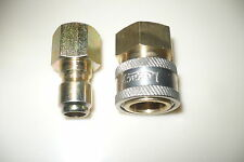 """3/8"""" Quick Connect Fittings for Pressure Washers -New- Top Quality -- Free Ship"""