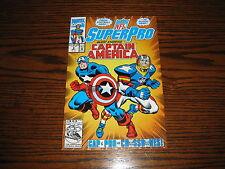 Marvel - NFL SuperPro #8 - Cap America/Crossbones App!! Glossy VF