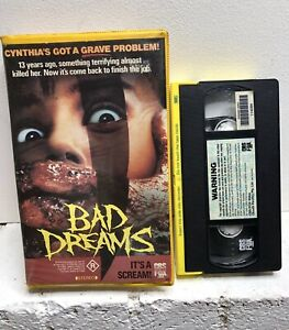 1988 Bad Dreams VHS Videotape Slasher Movie Ex Rental Clamshell