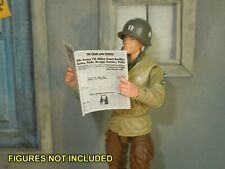 1/18 Scale Newspaper - Stars and Stripes WW2 from Fury for action figures