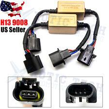2x H13 9008 LED Headlight Canbus Decoder Adapter No Error Anti-Flicker Resistor