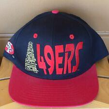Vintage NFL San Francisco 49ers Black & Red Annco Snapback Hat Cap