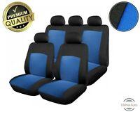 6 PCS FULL BLUE FABRIC SEAT COVERS SET VAUXHALL ZAFIRA CORSA ASTRA VECTRA SIGNUM